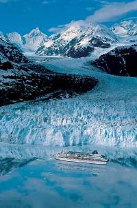 Cruise to Alaska between glaciers...